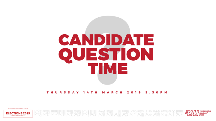 RSU Election Candidate  Question Time