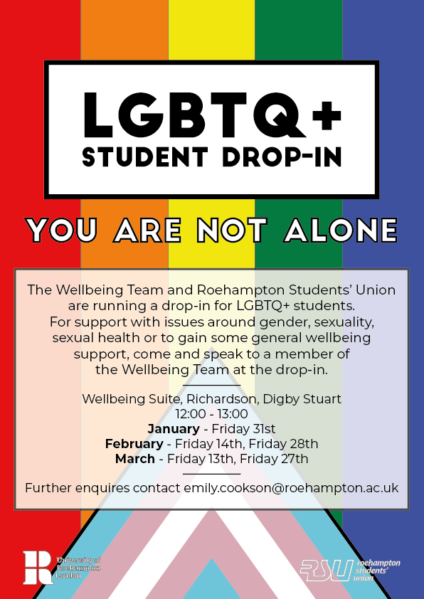 LGBTQ+ Student Drop In