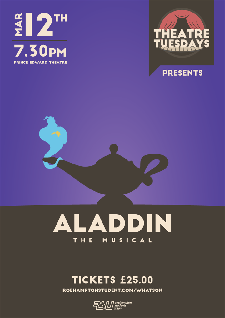 Theatre Tuesday - Aladdin SOLD OUT