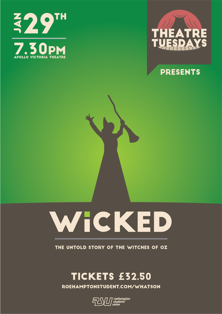 Theatre Tuesday - Wicked - SOLD OUT