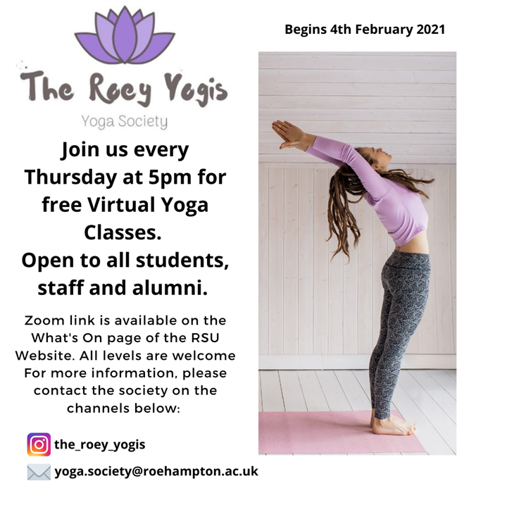 Yoga Society Free Yoga Class at 5pm - All Welcome